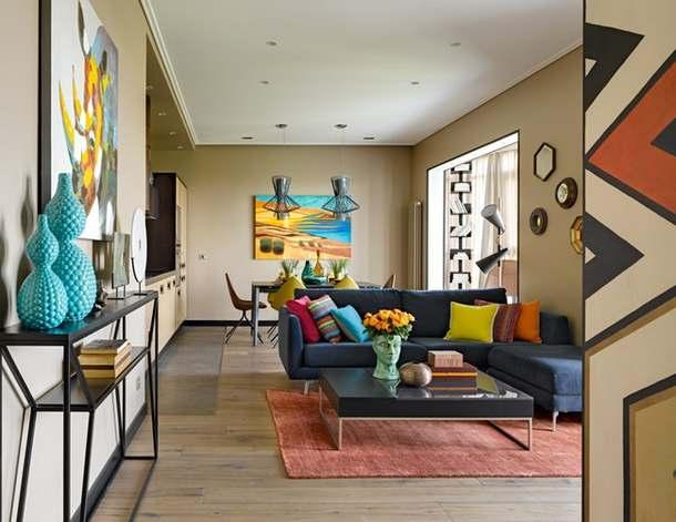 Интерьер двухкомнатной квартиры 90 квадратных метров