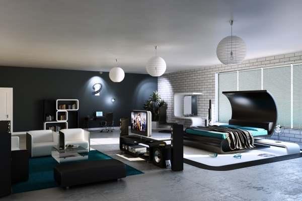 Интерьер современной спальни фото8