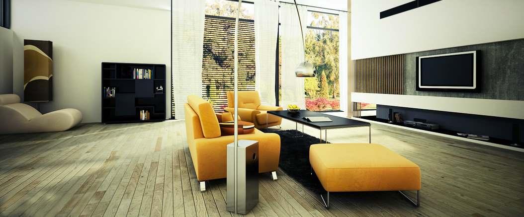 Желтый цвет в дизайне интерьера4