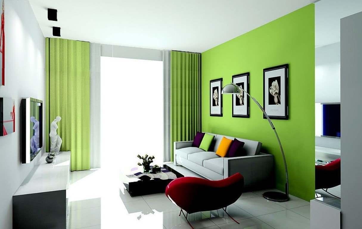 зеленый цвет в интерьере гостиной2