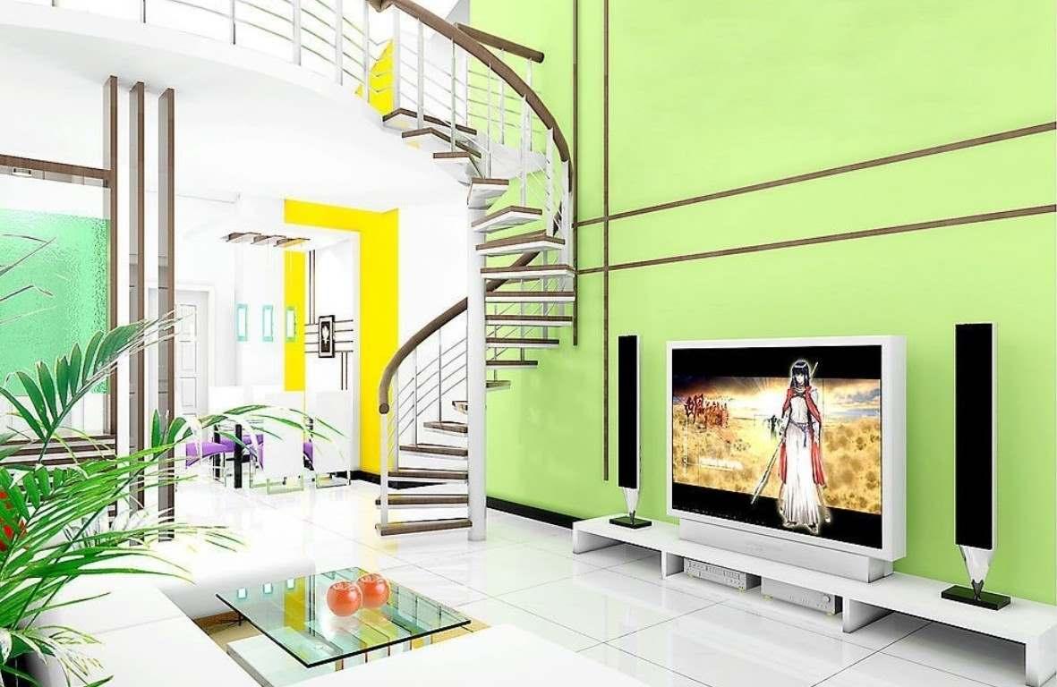 зеленый цвет в интерьере гостиной6