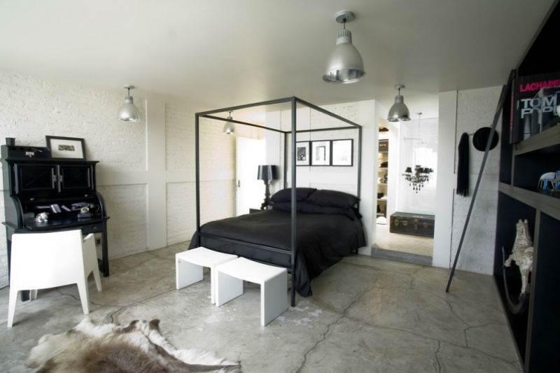 Дизайн спальни в черно-белой гамме11