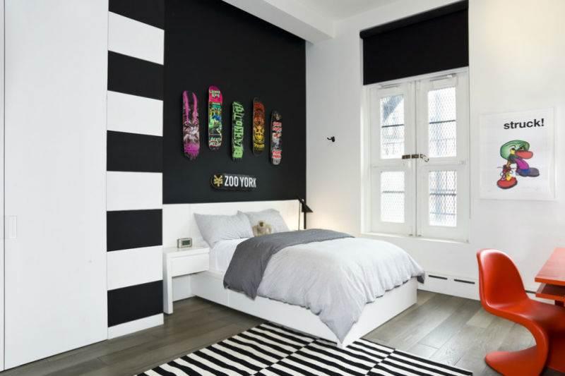 Дизайн спальни в черно-белой гамме5
