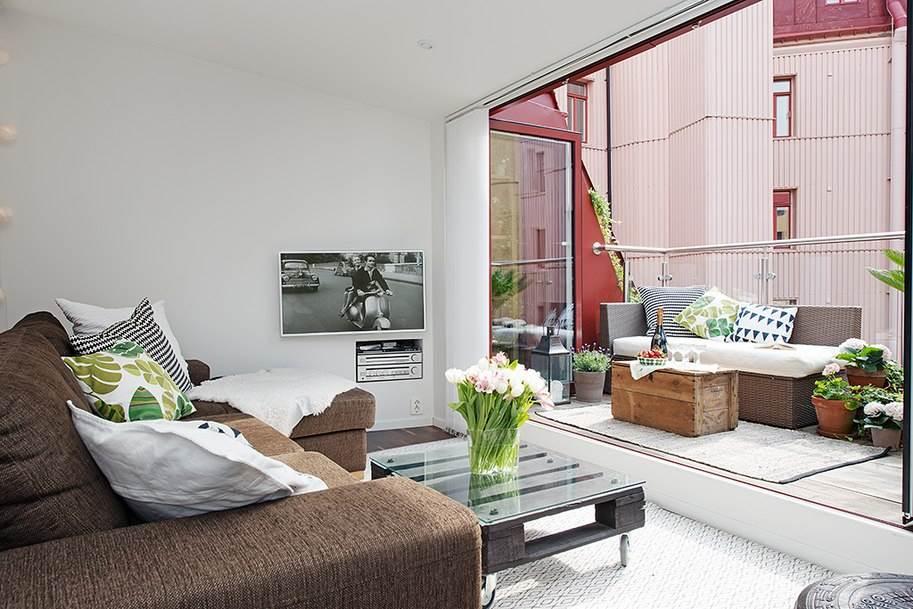 Интерьер небольшой уютной квартиры в скандинавском стиле2