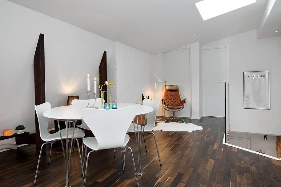 Интерьер небольшой уютной квартиры в скандинавском стиле5