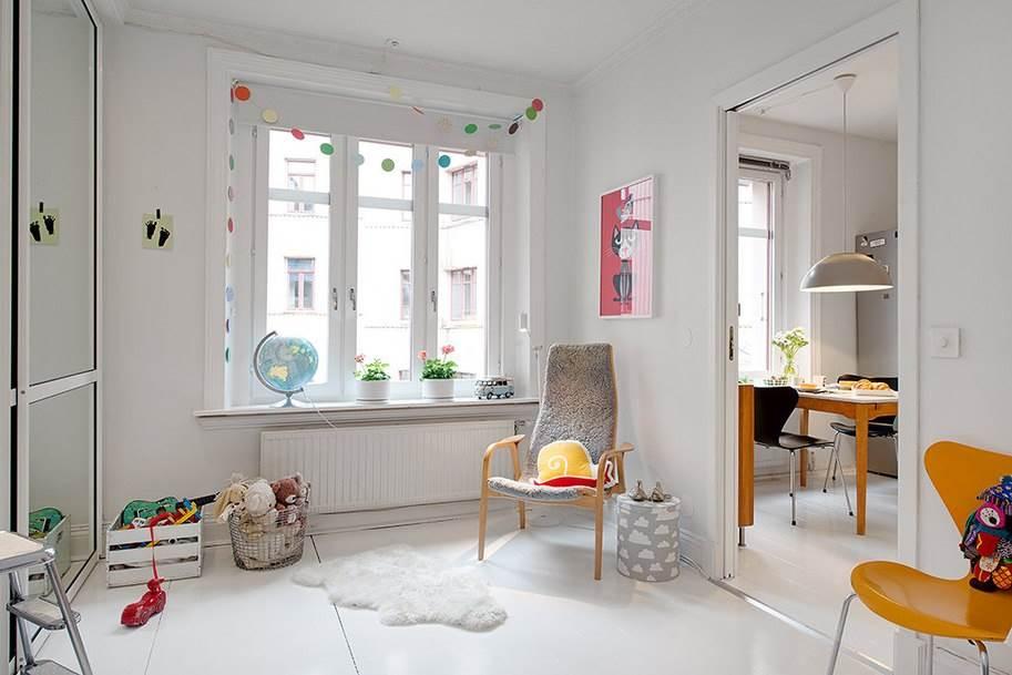 Интерьер небольшой уютной квартиры в скандинавском стиле9
