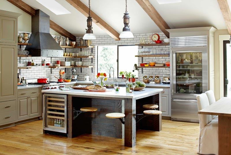 Интерьер современной кухни в индустриальном стиле