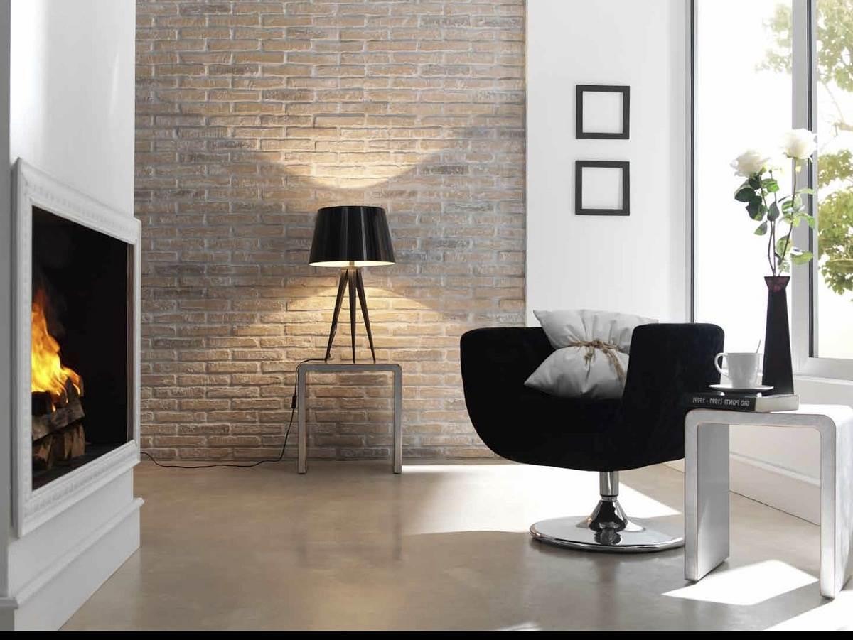 Кирпичная стена в современном интерьере2
