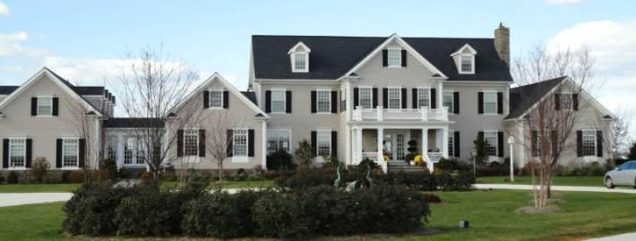 Цветовые схемы для фасада загородного дома0