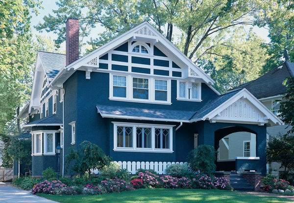 Цветовые схемы для фасада загородного дома1