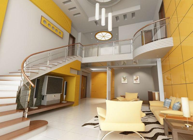 желтый цвет в интерьере гостиной7
