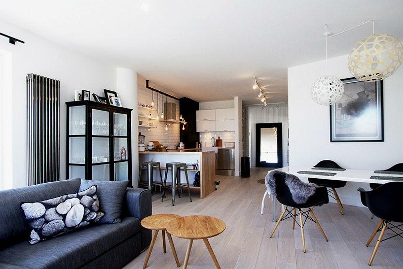 планировка интерьера однокомнатной квартиры