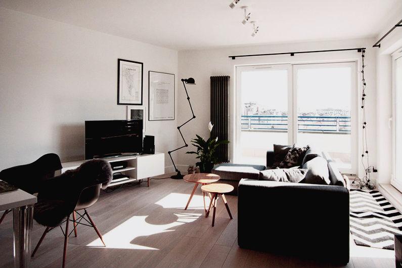 планировка интерьера однокомнатной квартиры5