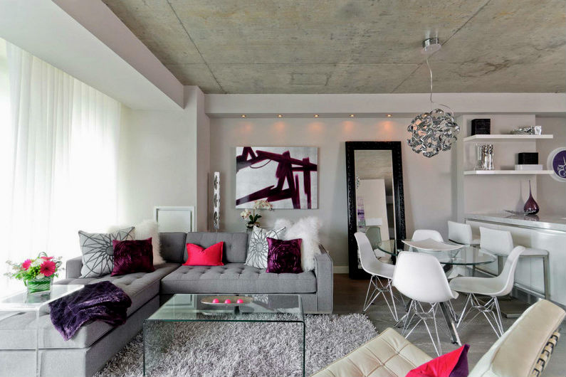 планировка интерьера однокомнатной квартиры7