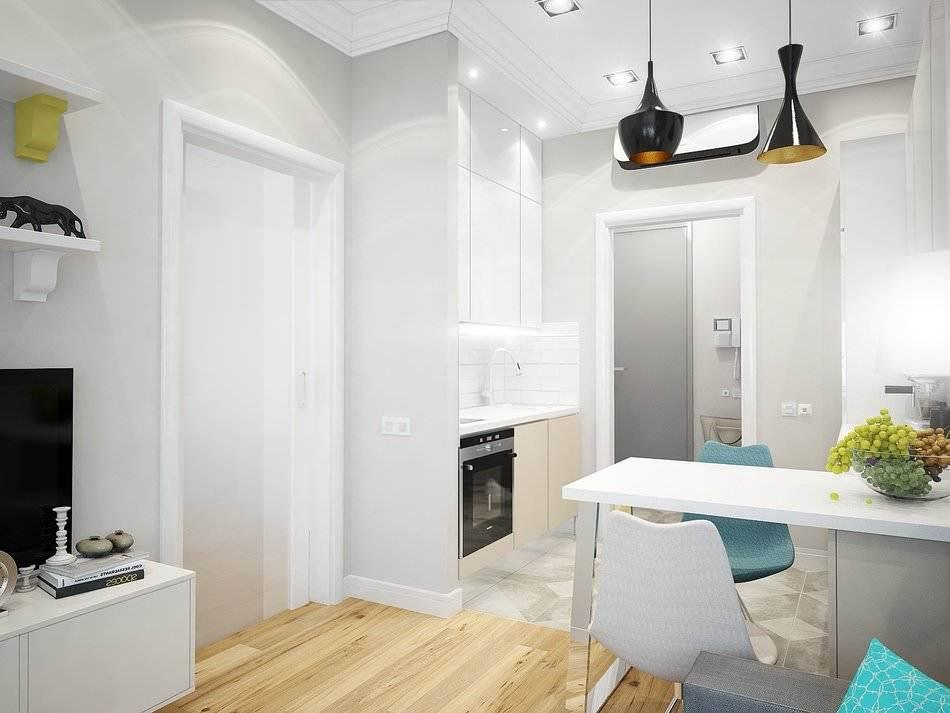 Дизайн маленькой двухкомнатной квартиры 33 кв.м. (10)