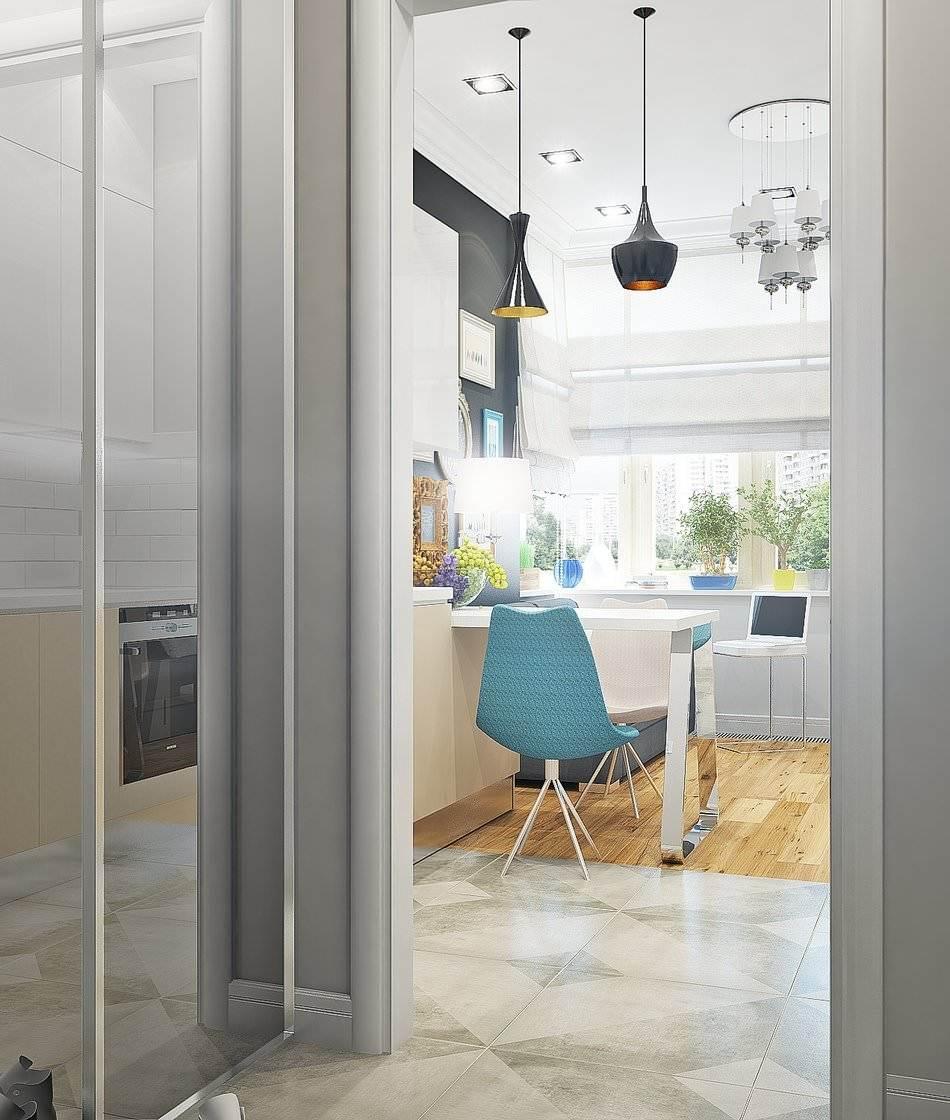 Дизайн маленькой двухкомнатной квартиры 33 кв.м.