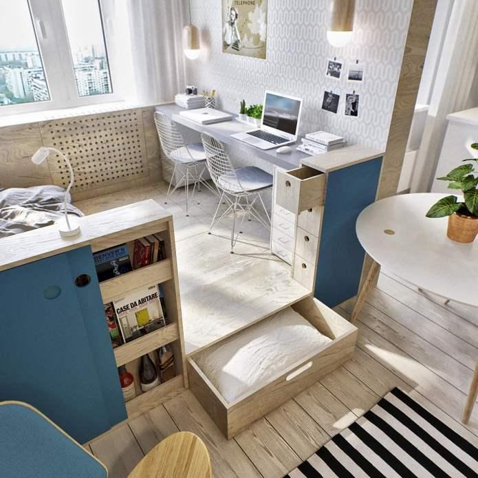Оформление интерьера студии 40 кв. м (4)