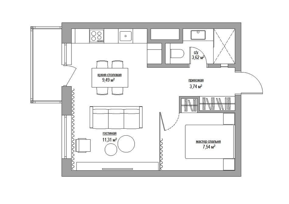 dizajn-odnokomnatnoj-kvartiry-38-kv-m-s-steklyannoj-spalnej3