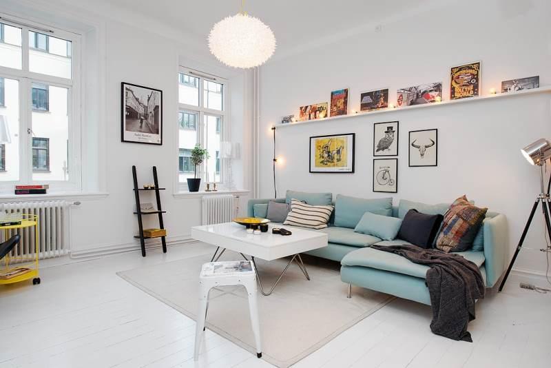 гостиная комната в скандинавском стиле (13)