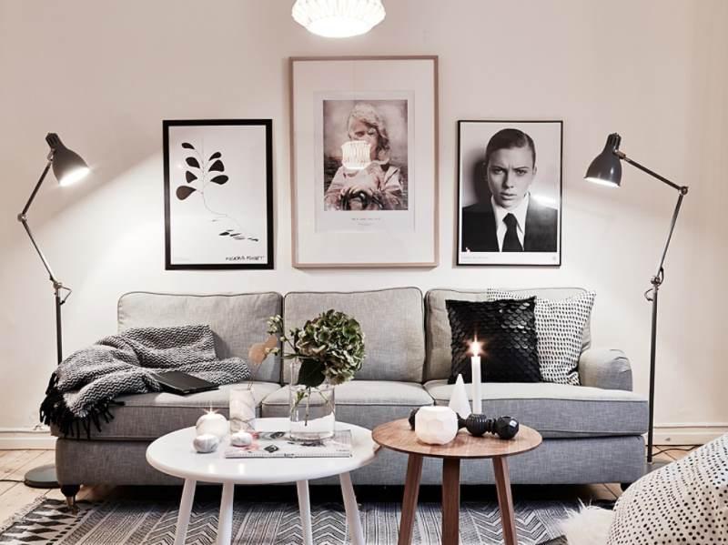 гостиная комната в скандинавском стиле (16)