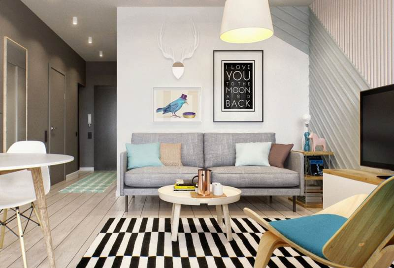 гостиная комната в скандинавском стиле (3)