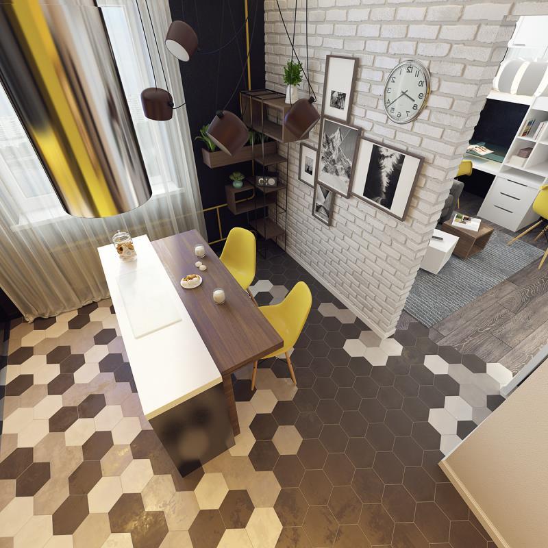 квартира площадью 37,5 кв.м (4)