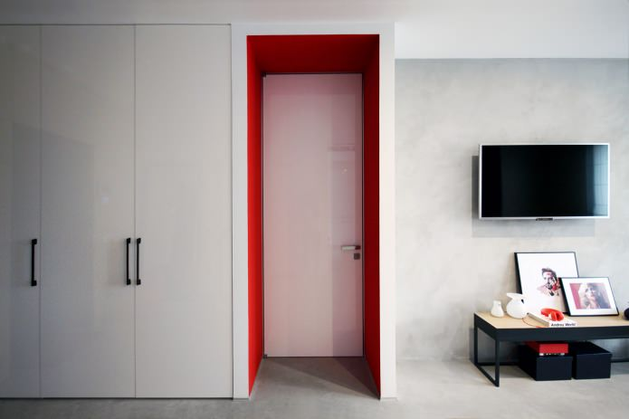 Дизайн квартиры 56 кв.м. в черно-бело-красной гамме (11)
