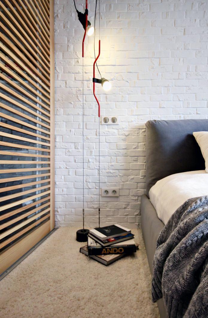 Дизайн квартиры 56 кв.м. в черно-бело-красной гамме (15)