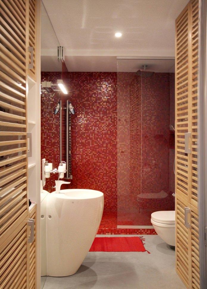 Дизайн квартиры 56 кв.м. в черно-бело-красной гамме
