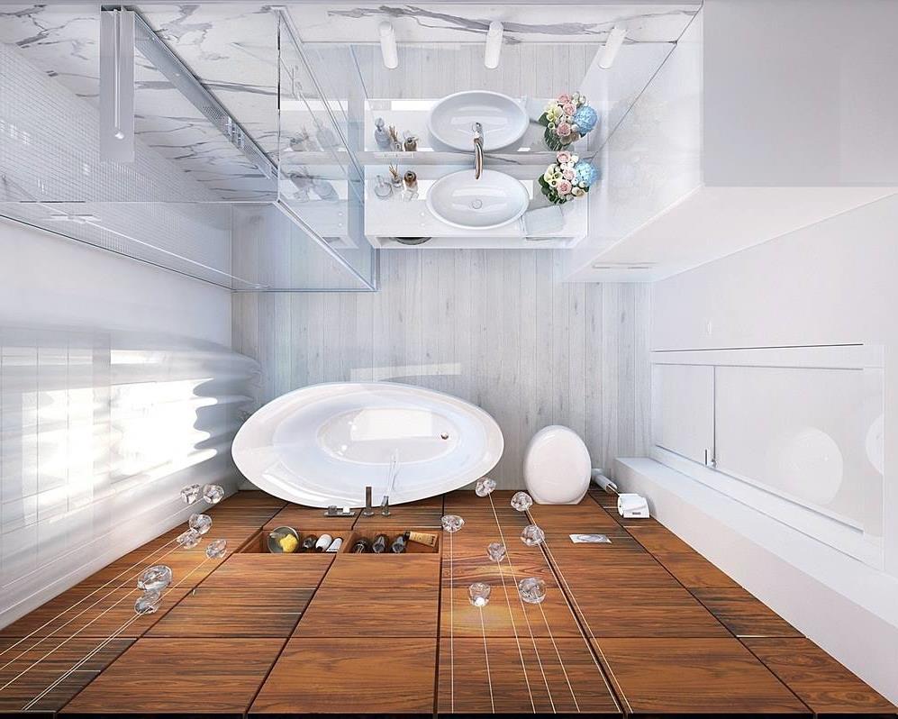 Дизайн ванной комнаты 8 кв.м. с туалетом (4)