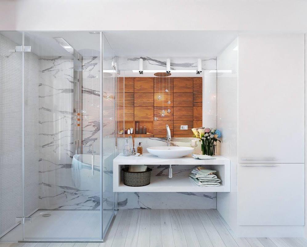 Дизайн ванной комнаты 8 кв.м. с туалетом (7)