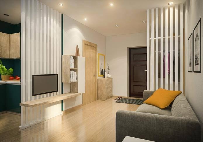 Интерьер двухкомнатной квартиры, площадью 42 кв.м (10)