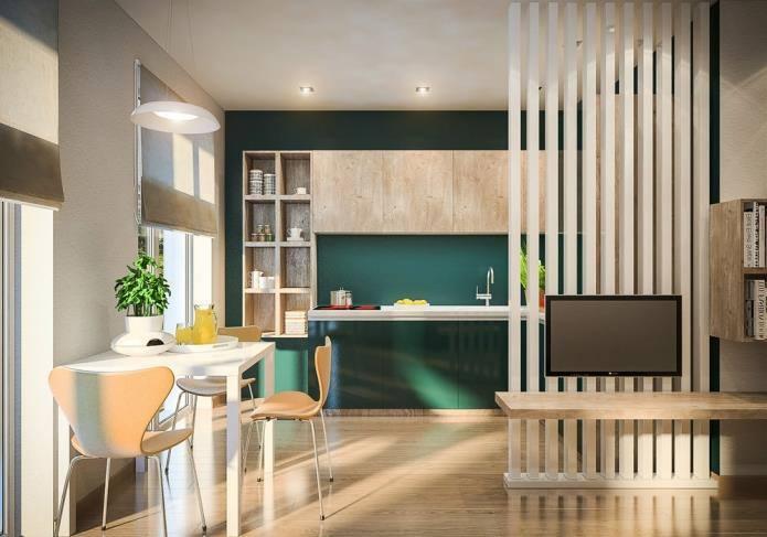 Интерьер двухкомнатной квартиры, площадью 42 кв.м (2)