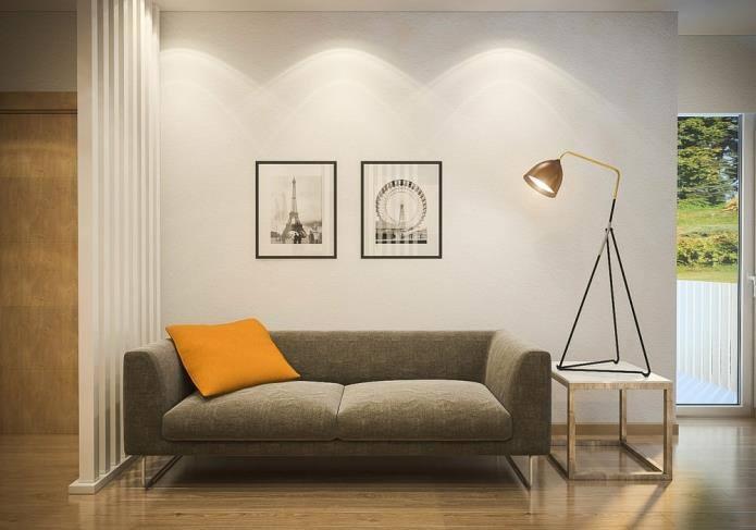Интерьер двухкомнатной квартиры, площадью 42 кв.м (4)