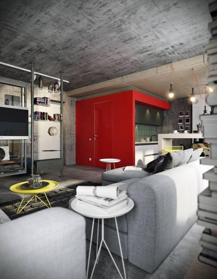 Интерьер современного двухуровневого лофта 110 кв.м. (7)