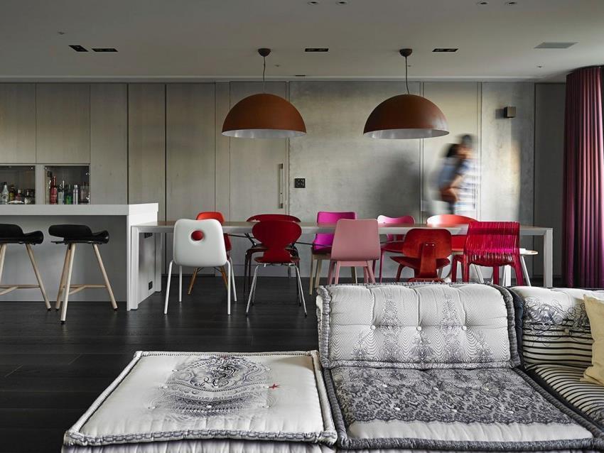 Интерьер современной квартиры приправленный красками (3)