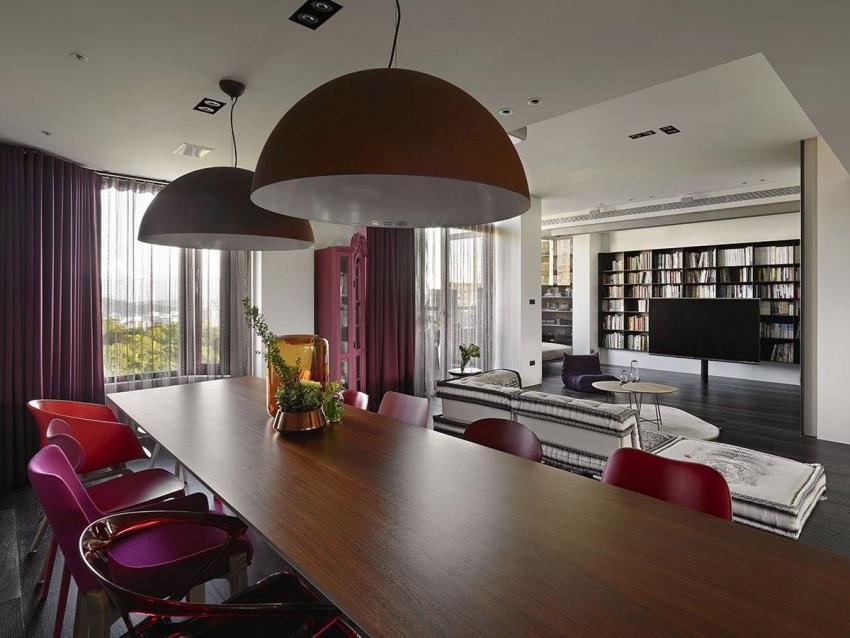 Интерьер современной квартиры приправленный красками (4)