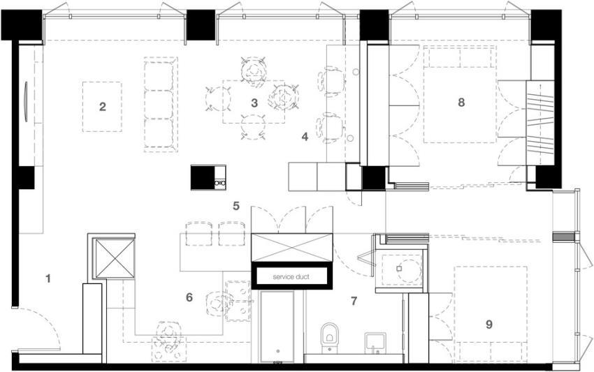 Потрясающий современный дизайн квартиры (23)