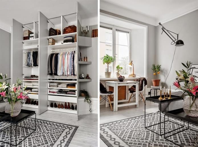 Фото интерьера маленькой однокомнатной квартиры 38 кв.м (1)