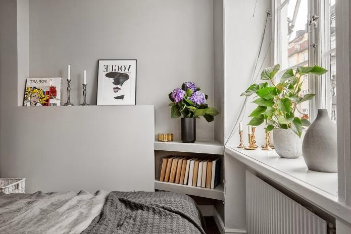 Фото интерьера маленькой однокомнатной квартиры 38 кв.м (17)