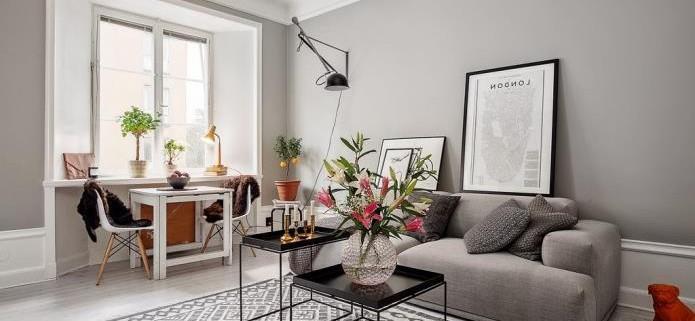 Фото интерьера маленькой однокомнатной квартиры 38 кв.м (3)
