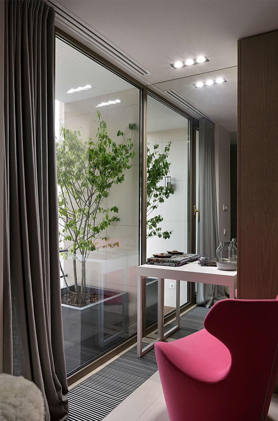 Современный интерьер из бетона, камня и дерева (9)