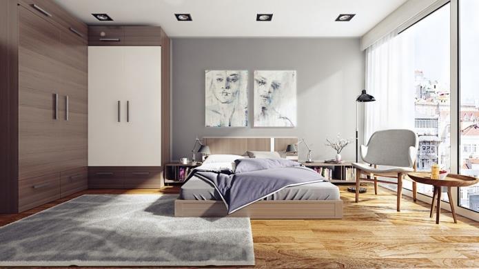 интерьер спальни в серой гамме (14)