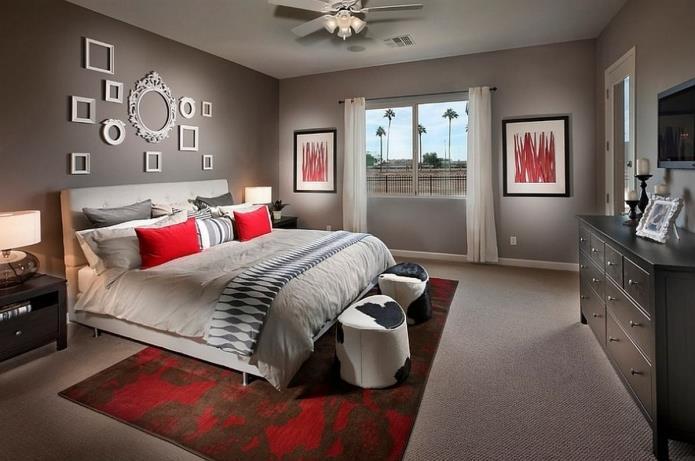 интерьер спальни в серой гамме (19)