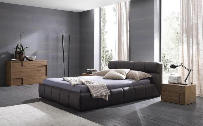 интерьер спальни в серой гамме (4)