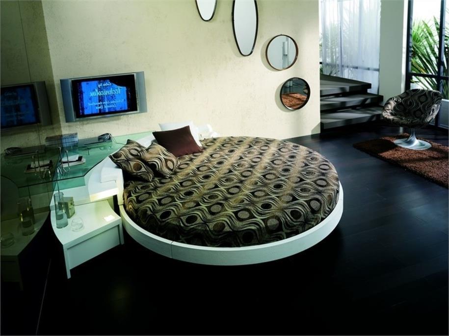 Потрясающий дизайн спальни с круглой кроватью (18)