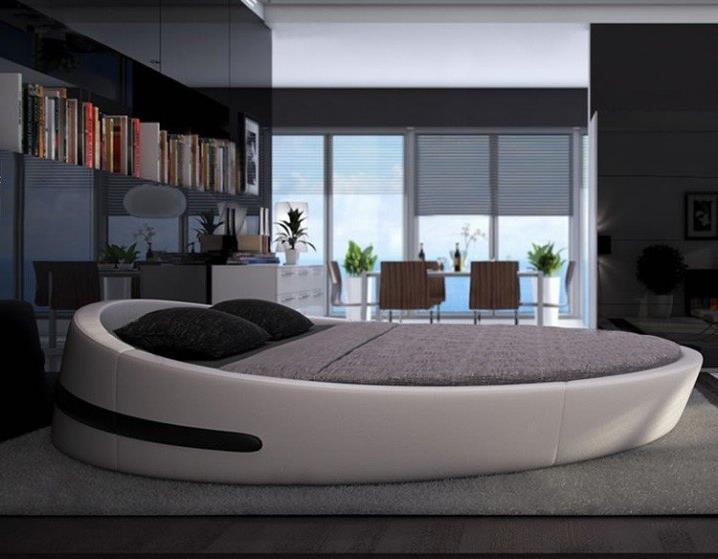 Потрясающий дизайн спальни с круглой кроватью (2)