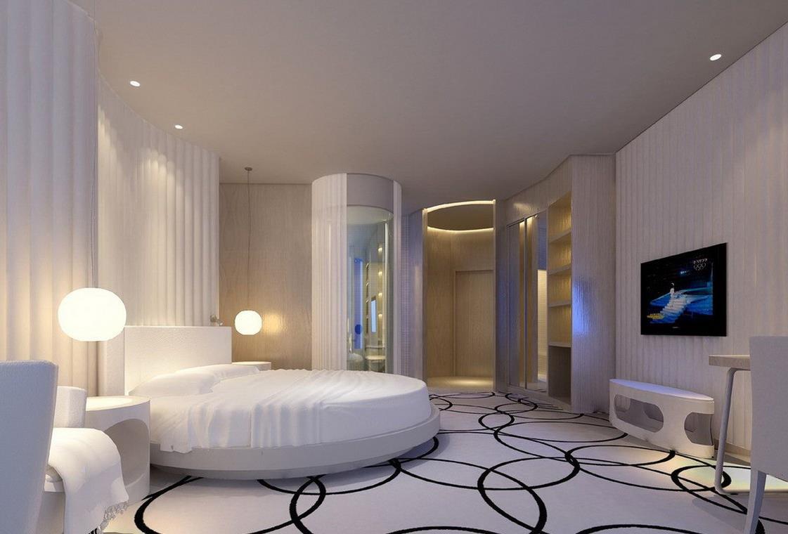 Потрясающий дизайн спальни с круглой кроватью (26)