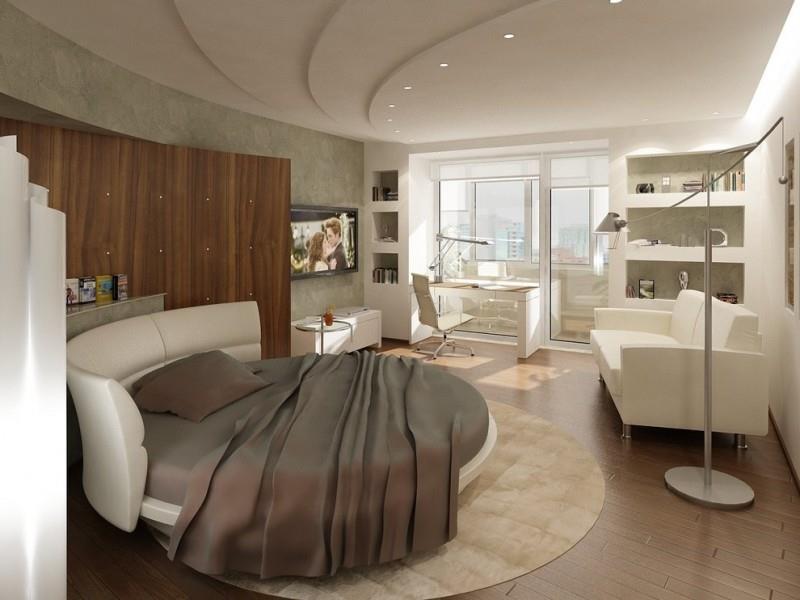 Потрясающий дизайн спальни с круглой кроватью (4)