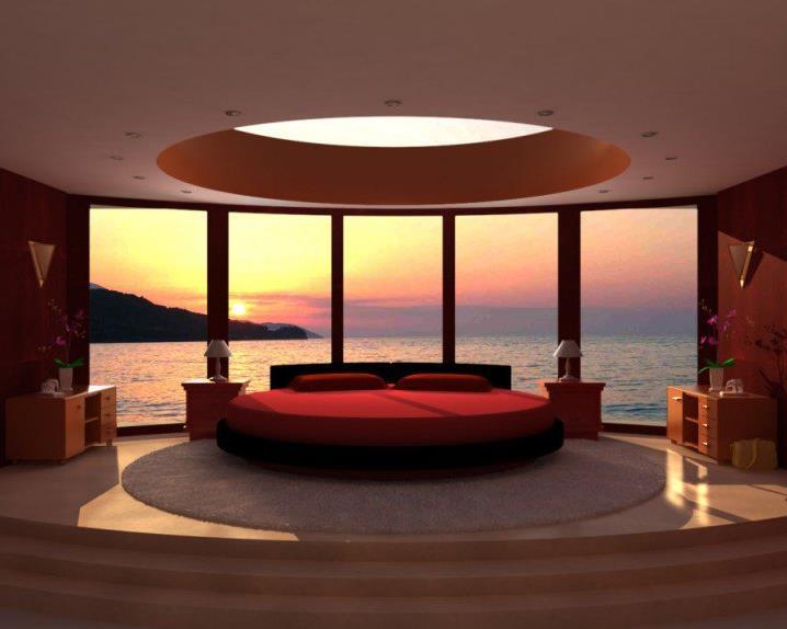 Потрясающий дизайн спальни с круглой кроватью (6)
